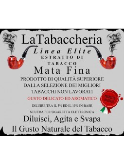 Estratto di Tabacco Mata Fina LA TABACCHERIA AROMA CONCENTRATO 10ML