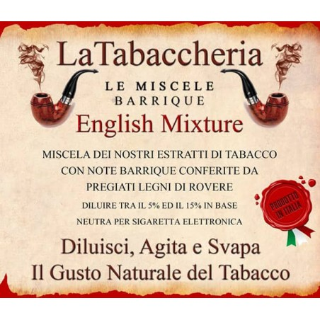 Miscela Barrique English Mixture LA TABACCHERIA AROMA CONCENTRATO 10ML