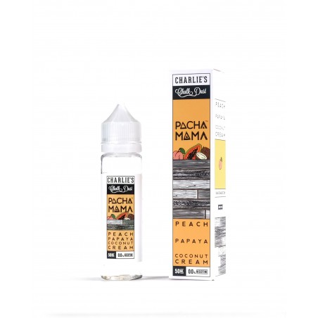 CHARLIE'S CHALK DUST - PACHAMAMA - PEACH PAPAYA COCONUT CREAM - MIX&VAPE 50ML