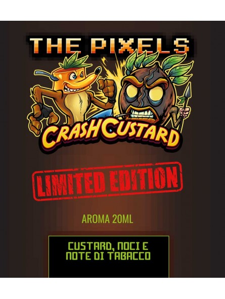 CRASH CUSTARD LIMITED EDITION THE PIXELS AROMA SCOMPOSTO 20ML