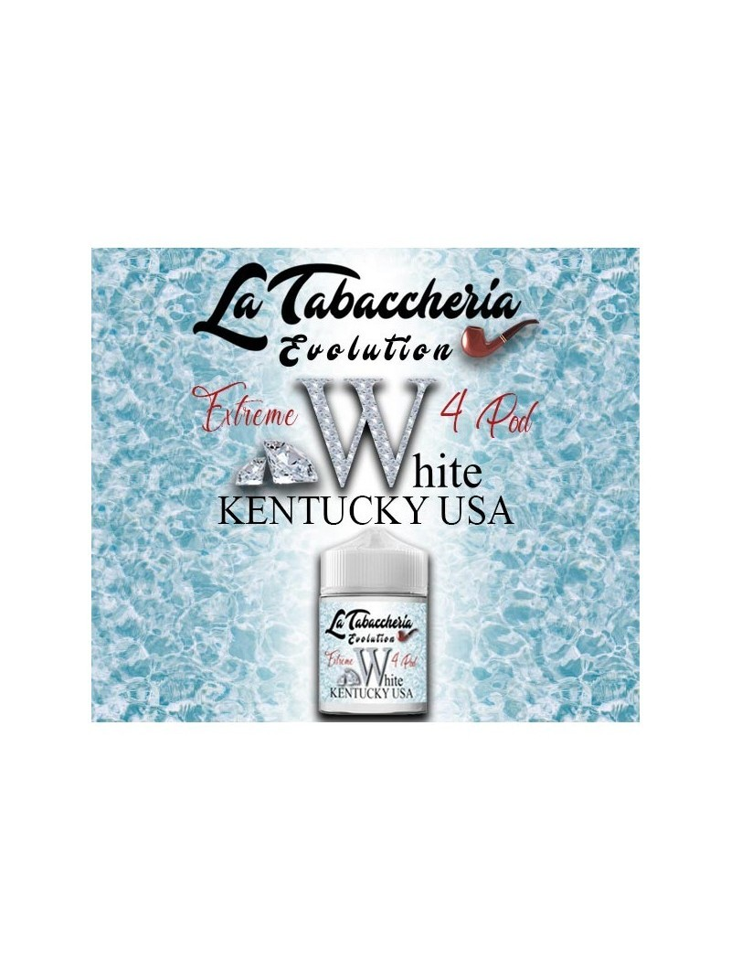 EXTREME 4POD WHITE KENTUCKY USA LA TABACCHERIA AROMA SCOMPOSTO 20ML