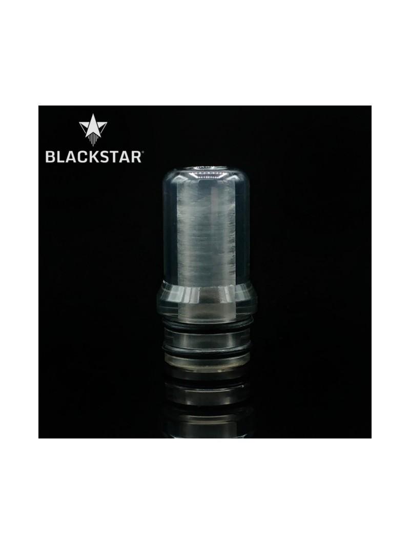BLACKSTAR - Drip Tip Fedor v2 - TRANSPARENT GREY POLISHED