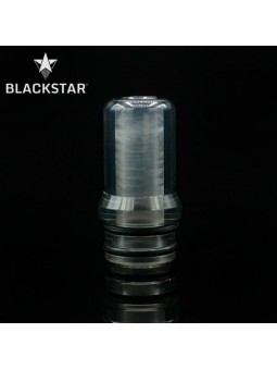 BLACKSTAR - Drip Tip Fedor v2 - TRANSPARENT GREY POLISHED