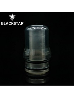 BLACKSTAR - Drip Tip MUM v2 - TRANSPARENT GREY POLISHED