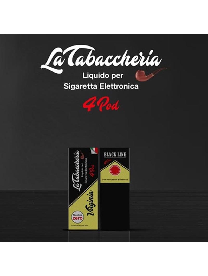 LA TABACCHERIA - LIQUIDO PRONTO 10ML TPD - BLACK LINE 4POD - VIRGINIA
