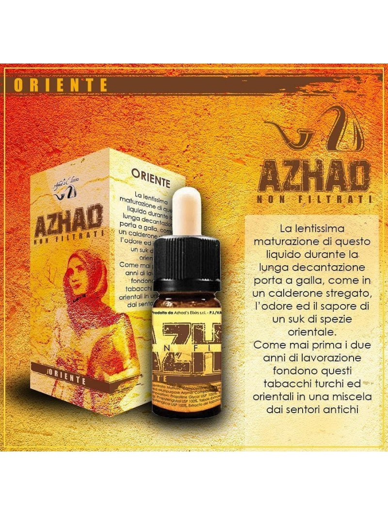 AROMA CONCENTRATO AZHAD'S ELIXIR - ORIENTE- NON FILTRATI- 10 TRAPML