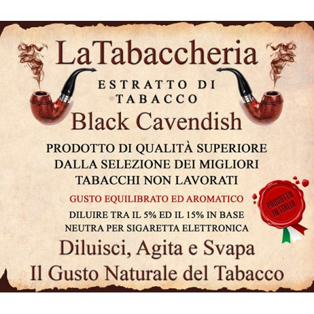 Estratto di Tabacco Black Cavendish LA TABACCHERIA AROMA CONCENTRATO 10ML